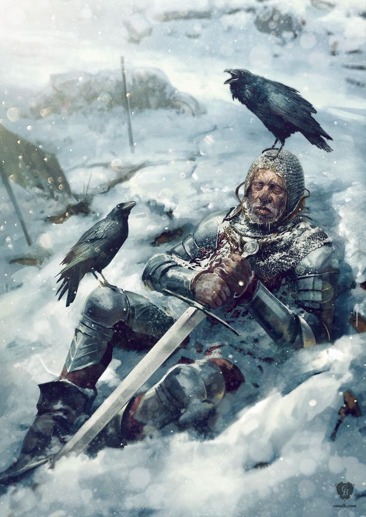 Death in the snow. Abandoned in the confusion and carnage, a wounded Lancastrian knight separated from the main group at Towton is left to die from his wounds overnight in the bitter cold.