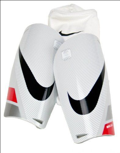 NIKE Mercurial Lite Shinguard White/Red/Black (Size L/G) by Nike. Save 37 Off!. $18.95. Looking for lightweight protection that won't get in the way? Nike's Mercurial Lite Shinguard is a low profile protective shell that's bonded to a dense, cushioning foam. It's cushioning protection that won't weigh you down. Dri-FIT sleeves create a secure fit and moisture control.- Comfortable protection thanks to a low profile shell with bonded foam backing. It feels great next the to the skin and ef...