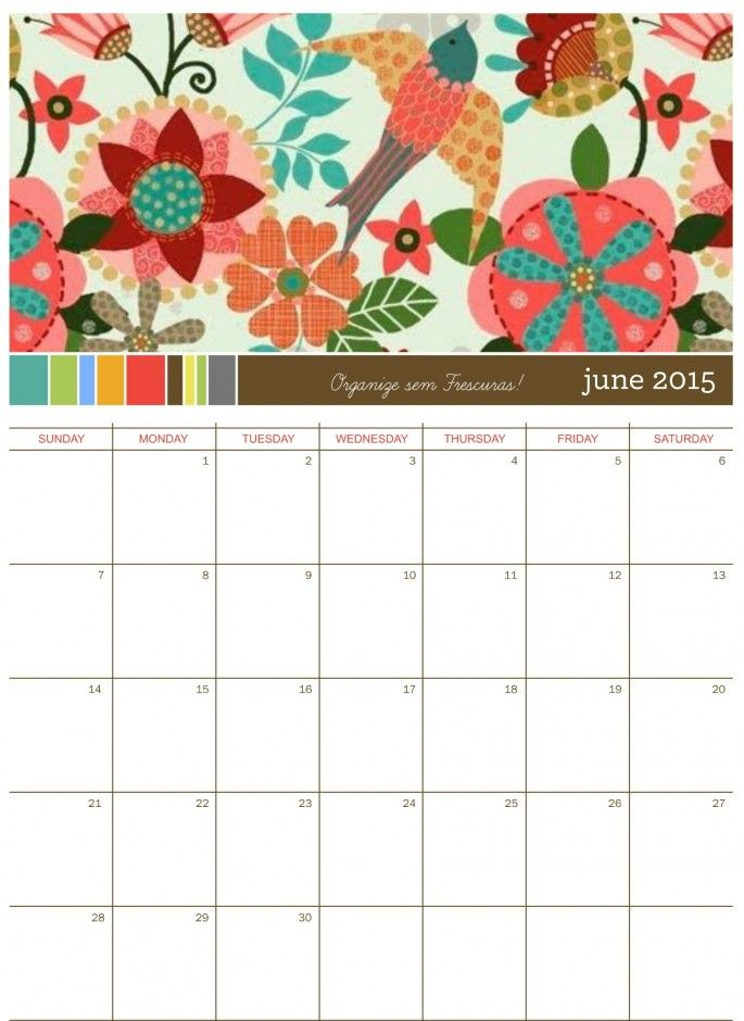 1000 ideias sobre Calendarios Para Imprimir 2015 no Pinterest ...