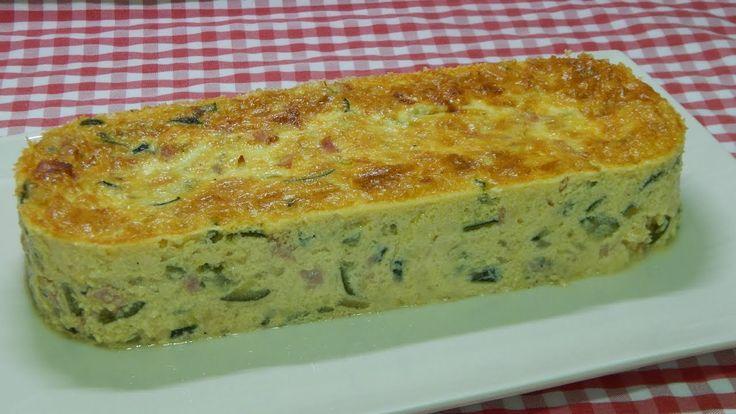 Receta fácil de pastel salado de calabacín, queso y jamón cocido  (TER...
