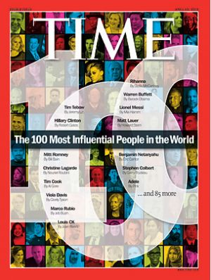 "Time's ""Most Influential"" List Snubs Zuckerberg, Googlers, Includes Tim Cook, Marc Andreesen: Magazines 2012, Time Covers, Time 100, April 2012, 100 Lists, 2012 Lists, Magazines Covers, Influential People, Time Magazines"