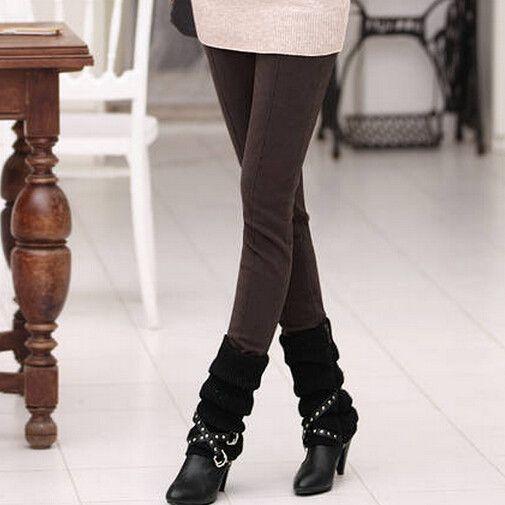 Pencil Pants Skinny Thick Velvet Warm Winter Leggings
