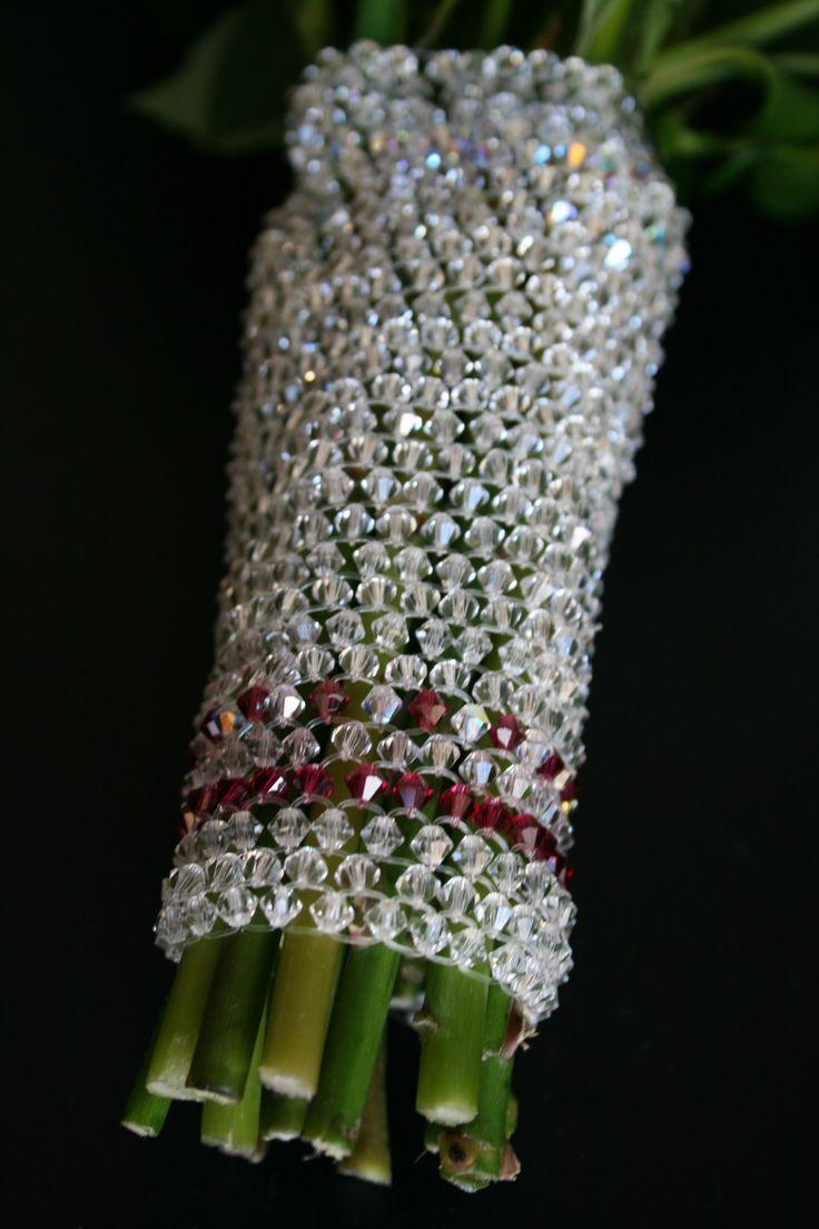 Handmade Swarovski bouquet bracelet