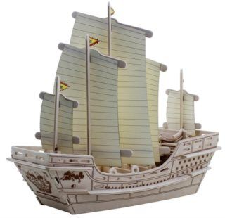 ROBOTIME 3D dřevěné puzzle Koráb Čeng Che 66 dílků