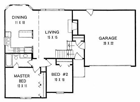 Plan 925 Bi Level First Floor Plan Plans
