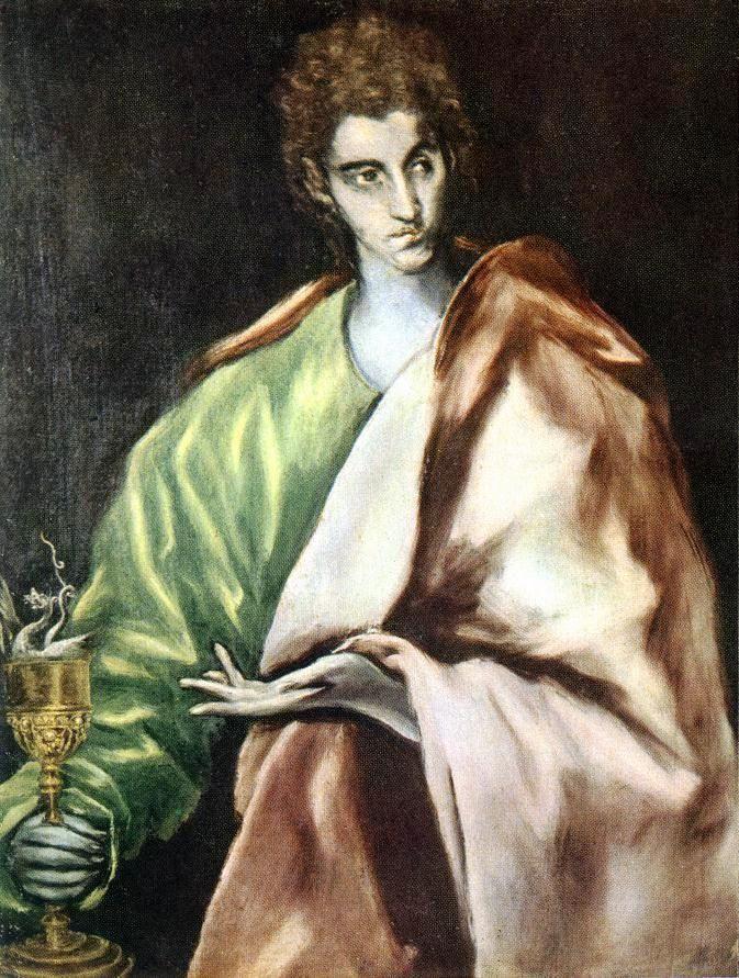 Apostle St. John the Evangelist, 1612, El Greco Size: 77x97 cm Medium: oil, canvas