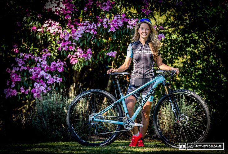 Photo of Emily Batty in Pietermaritzburg, South Africa. Emily Batty will be riding the Trek Superfly 100 here in Pietermaritzburg. While the XC track has undergone some major changes involving very tough technical sections, more climbing has been incorporated as well. The hard tail Superfly will save precious energy on the climbs, but is nimble enough to get Batty safely through the rough sections.