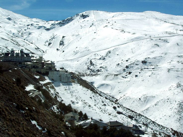 The Sierra Nevada is a mountain range in the region of Andalucia, provinces of Granada and Almería in Spain. It contains the highest point of continental Spain, Mulhacén at 3,478 metres above sea level.
