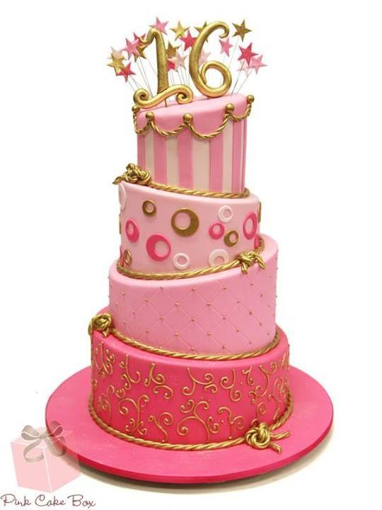 Sweet 16 kuchen pink