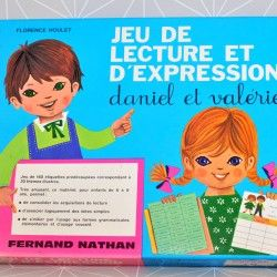 Jeu de lecture et d'expression Daniel et Valérie - Fernand Nathan  - Pauline et paulette la boutique vintage : www.paulineetpaulette.Fr