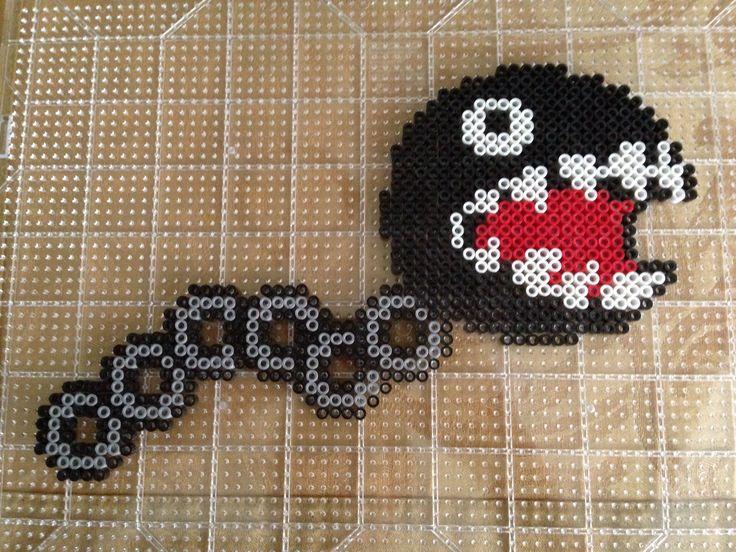 Chain Chomper Mario perler beads by S Sharda