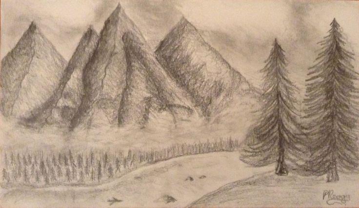 Mountains drawing | Rareș Neagu on Patreon