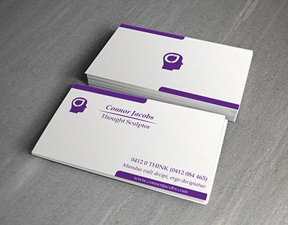 "Check out new work on my @Behance portfolio: ""Connor Jacobs - Thought Sculptor Business Card Design"" http://be.net/gallery/38677951/Connor-Jacobs-Thought-Sculptor-Business-Card-Design"