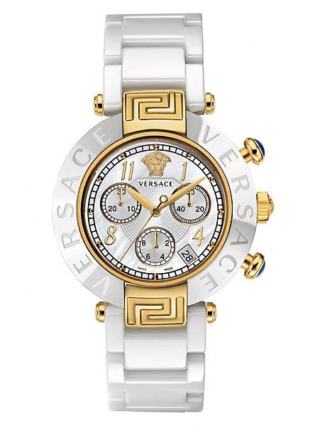 One of the most popular historical collections made of ceramic: contemporary, chic. #VersaceWatches #Versace