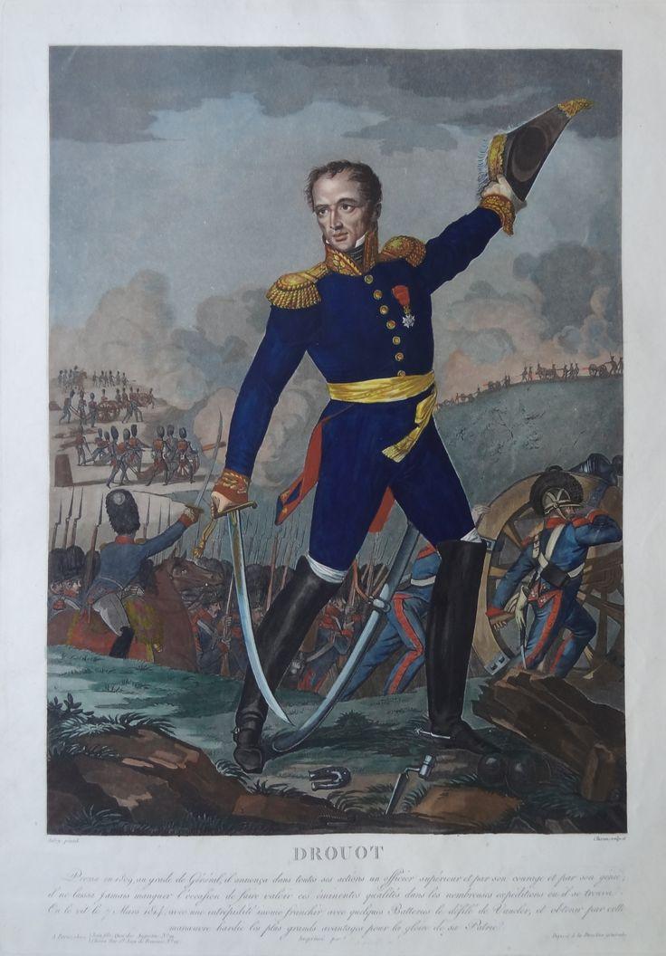Le Comte Antoine Drouot (né le 11 janvier 1774 à Nancy - mort dans la même ville le 24 mars 1847) - Général de division - gravé par Charon d'après Aubry et publié chez Jean - MAS Estampes Anciennes - Antique Prints
