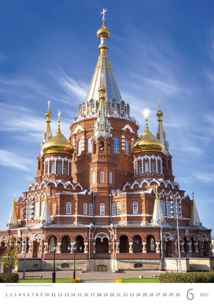Saint Michael's Cathedral, Izhevsk, Russia /  Kalendář Evropa 2017