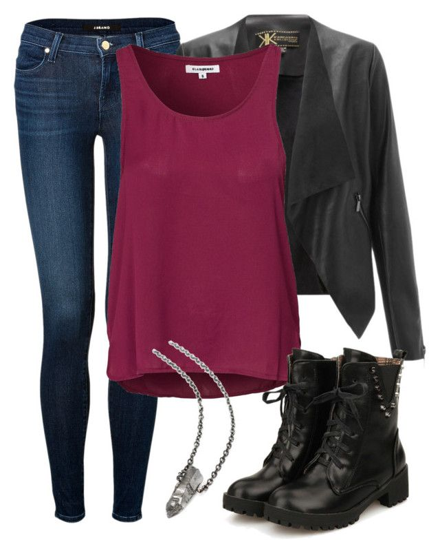 """Skye Insp. First Day of College Outfit"" by lauloxx ❤ liked on Polyvore featuring J Brand, Lipsy, Glamorous, BackToSchool, Fall, Winter, casual and skye"