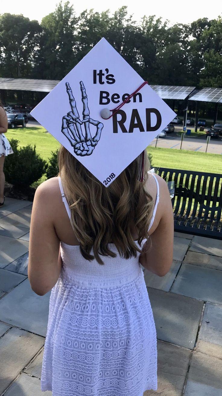 "Radiologic Technologist Graduation Cap Decorations! ""It was RAD"" class from 2018 - #class #decorations #graduation #radiologic"