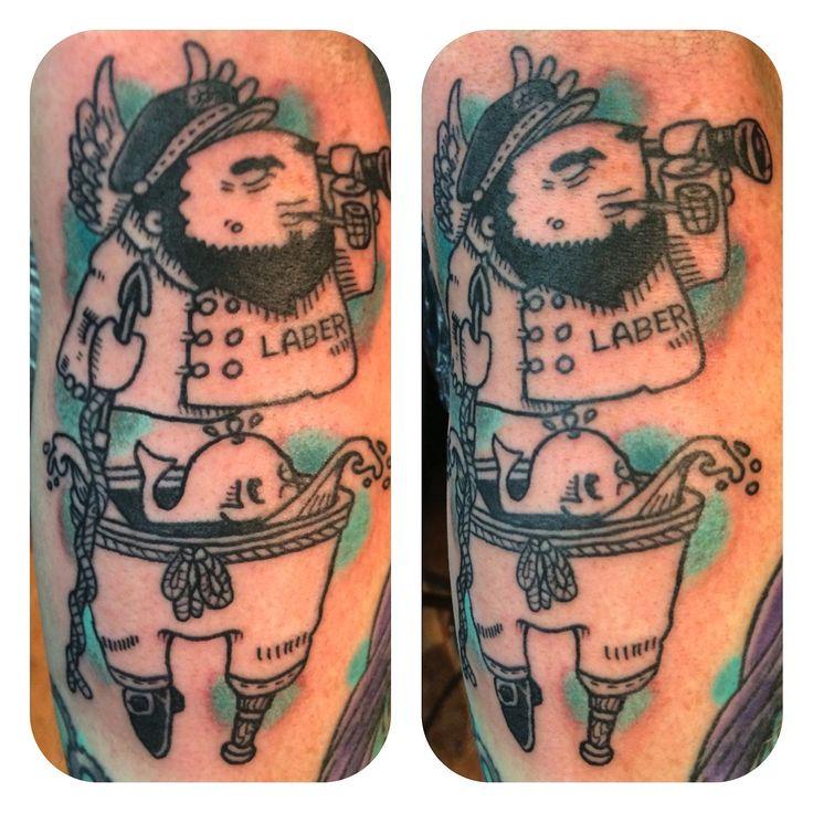 Sailor Woodcut Tattoo