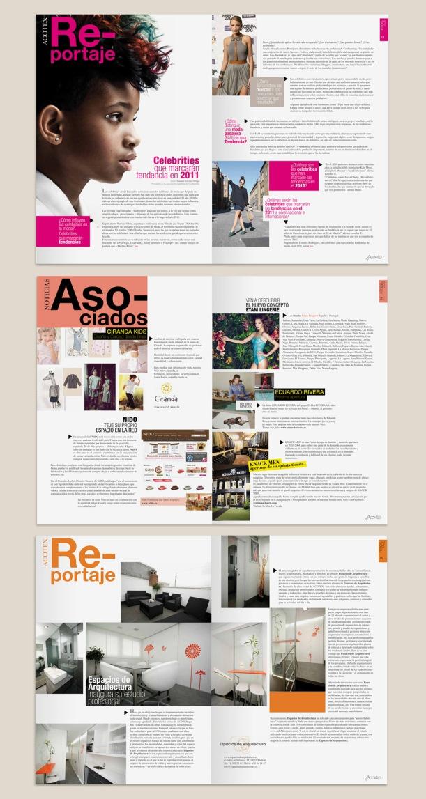 Diseño de revista Acotex