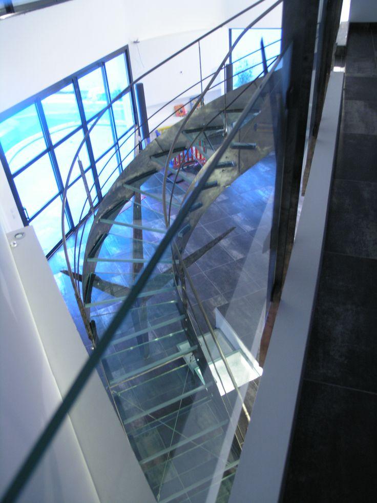 Escalier Marche en verre