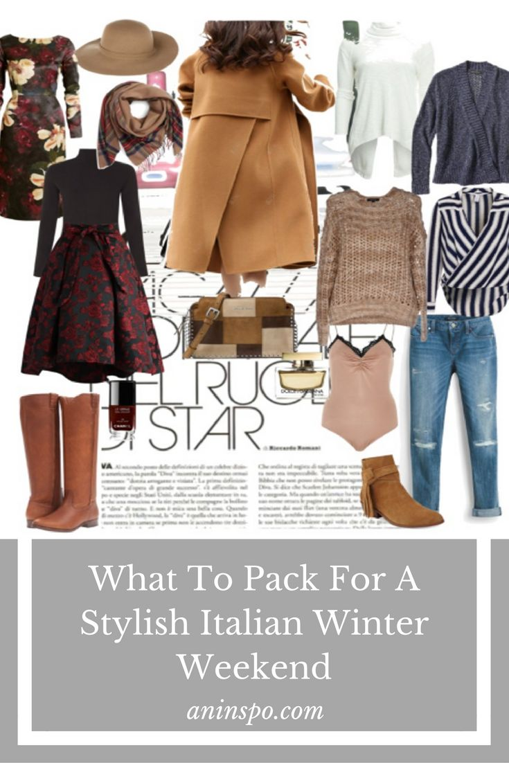 What To Pack For A Stylish Italian Winter Weekend? Ladies, hereby find my ultimate packing recommendation for a stylish, 3 day long-weekend for the winter months.