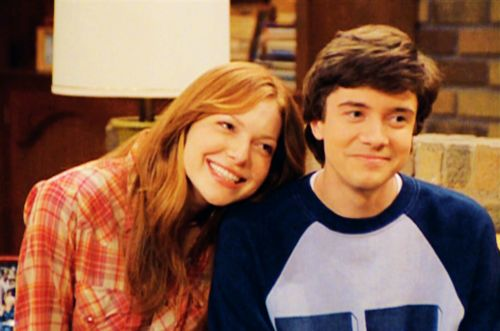 Donna Pinciotti and Eric  Foreman les dramatic but still cute