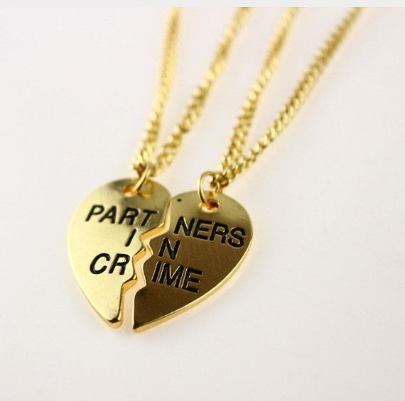 Partners in Crime Best Friend Necklaces2pcs by LoveThatBracelet