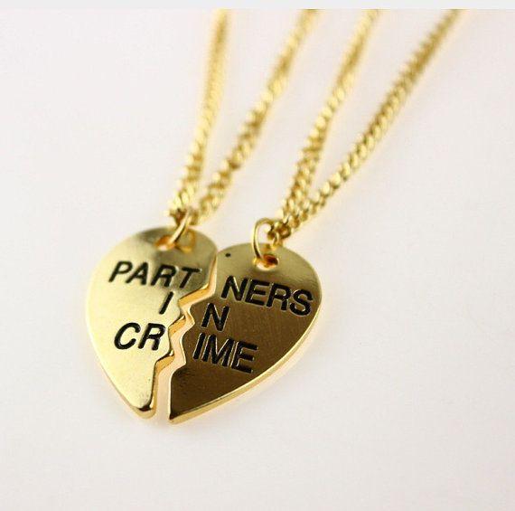 Partners in Crime Best Friend Necklaces2pcs by LoveThatBracelet