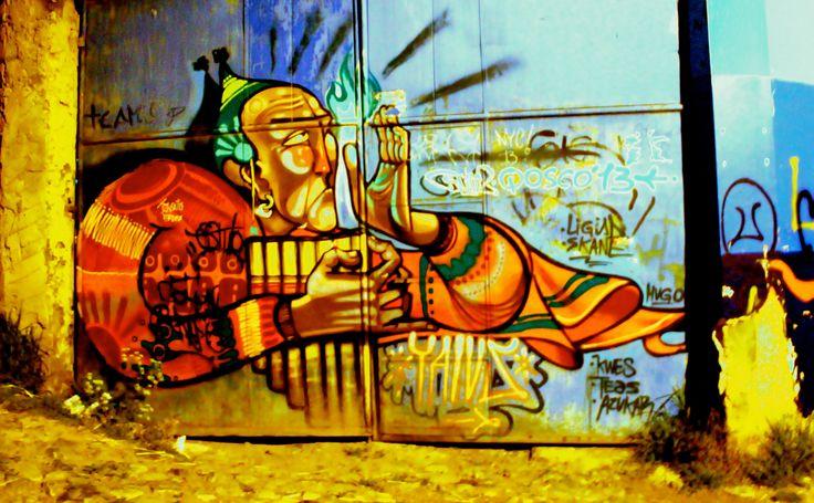 Street art, Cusco, Peru.