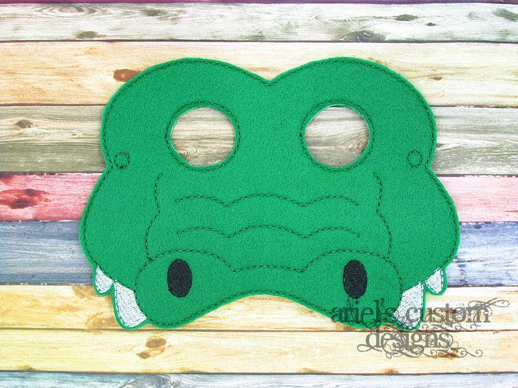 Alligator Mask Crocodile Mask - Jungle Animal Mask - Jungle Party - Felt Dress Up Masks - Birthday Party Favor Halloween by ArielsCustomDesigns on Etsy
