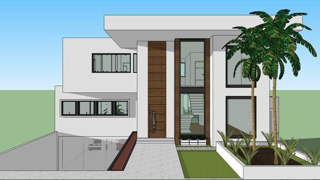 Casa Moderna - Garagem subterranea - 3D Warehouse
