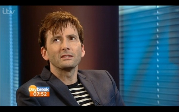 This morning on ITV Daybreak there was a short pre-recorded clip David Tennant and Olivia Colman's interview with TV journalist Richard Arnold on their series Broadchurch. Tonight at 9 pm the fifth and pivotal episode airs and according to Chris Chibnall you watch live so that it isn't spoiled for you.In case you were too memorised by ...