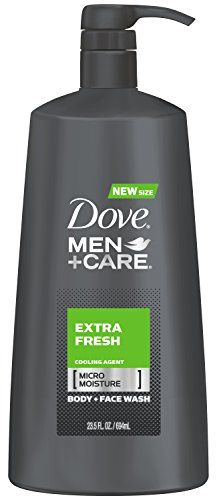 Dove men plus care extra fresh body and face wash with micro moisture technology is clinically-proven to fight skin dryness better than regular men's body wash. This ultra-light formula delivers extra refreshment with a cooling agent, then rinses off easily for total skin comfort.