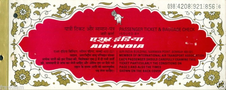 Modify old red and gold Air India tickets to use as either invite inserts, save the dates, or seating cards. :)