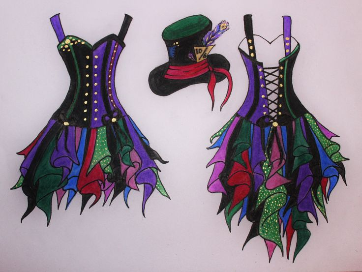 The design I will be using for my mad hatter costume. By Faerie in The Foxglove