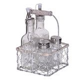 Show more information on Condiment Set In Baskek