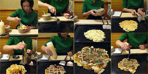 Okonomiyaki in progress