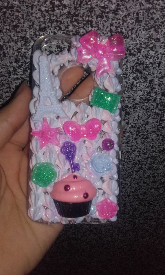 Cover iphone 5s decorata in decoden kawaii di mimmolaemammola