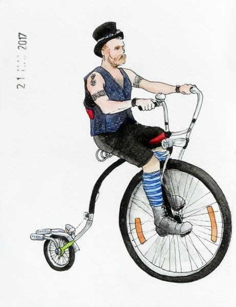 21 - A bicycle