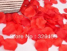 1000pcs Decoraciones al por mayor de Rose roja del partido de Chrismas de los pétalos Wedding Fashion atificial Flores(China (Mainland))