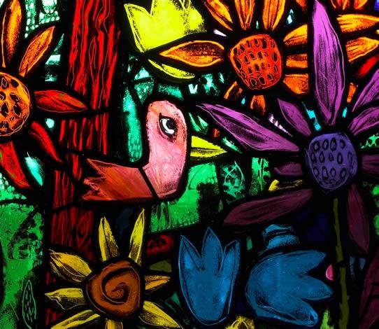 Vibrant colors! Stuart Low - St Michaels and All Angels Church, Bristol