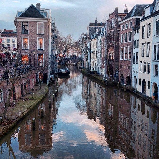 Canal-side in Utrecht, Netherlands. Photo courtesy of aphototraveler on Instagram.