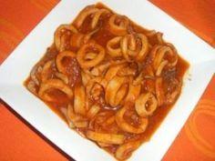 Calamares en Salsa Te enseñamos a cocinar recetas fáciles cómo la receta de Calamares en Salsa y muchas otras recetas de cocina..