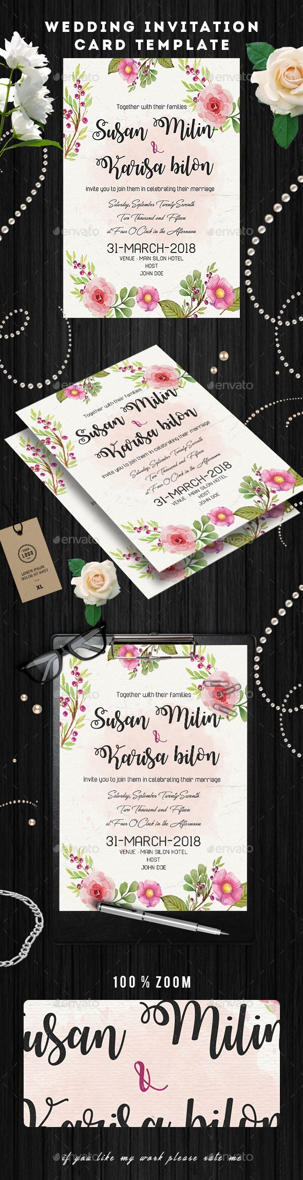 business event invitation templates%0A Wedding Invitation Card Flyer