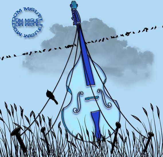 Artwork >> Abelard Ouvert La Nuit >> Sedentary #artwork, #violin, #music, #blue, #masterpiece