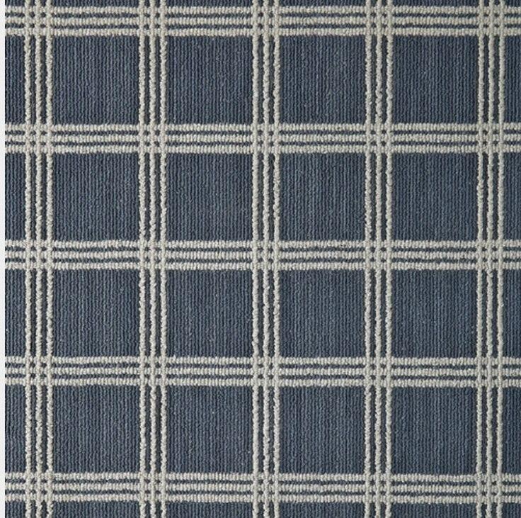 Blue Plaid Carpet Tuftex Billiard Room Project