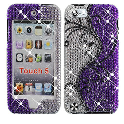 Bling ipod 5 cases | Apple Ipod Touch 5 Case Whirl Pattern Diamond Bling Rhinestone Cover ...
