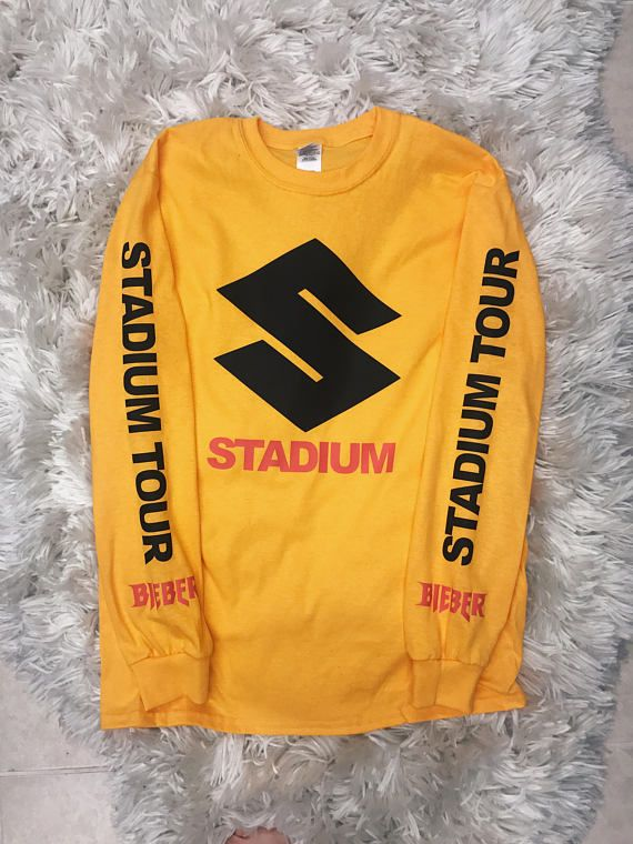 Purpose Tour Stadium Unisex Yellow Gold Long Sleeve Merch