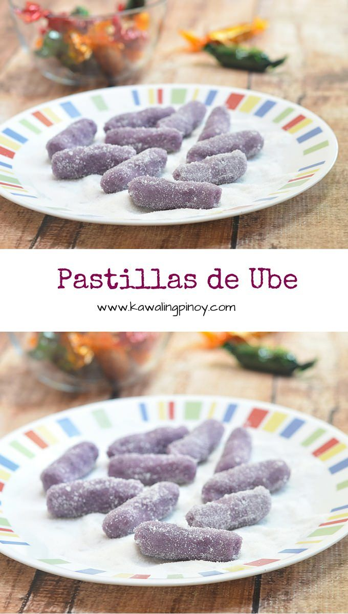 Soft, chewy and delicious, Pastillas de Ube are Filipino candies made with purple yam, milk and sugar.